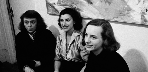 joan mitchell, helen frankenthaler, and grace hartigan in 1957_Joan Mitchell, Helen Frankenthaler, and Grace Hartigan in 1957.Photograph by Burt Glinn - Magnum.jpg