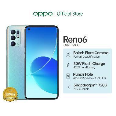 OPPO Reno6 Smartphone [8GB/128 GB]