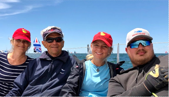 Rod J and the kids on the J/9 family daysailer