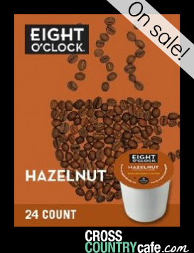 Eight O'clock Hazelnut Keurig K-cup coffee