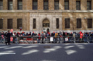 Verizon workers picketing in New York City Wednesday. The company said it trained thousands of nonunion employees to fill in for those on strike, but union workers say the quality of service will suffer.