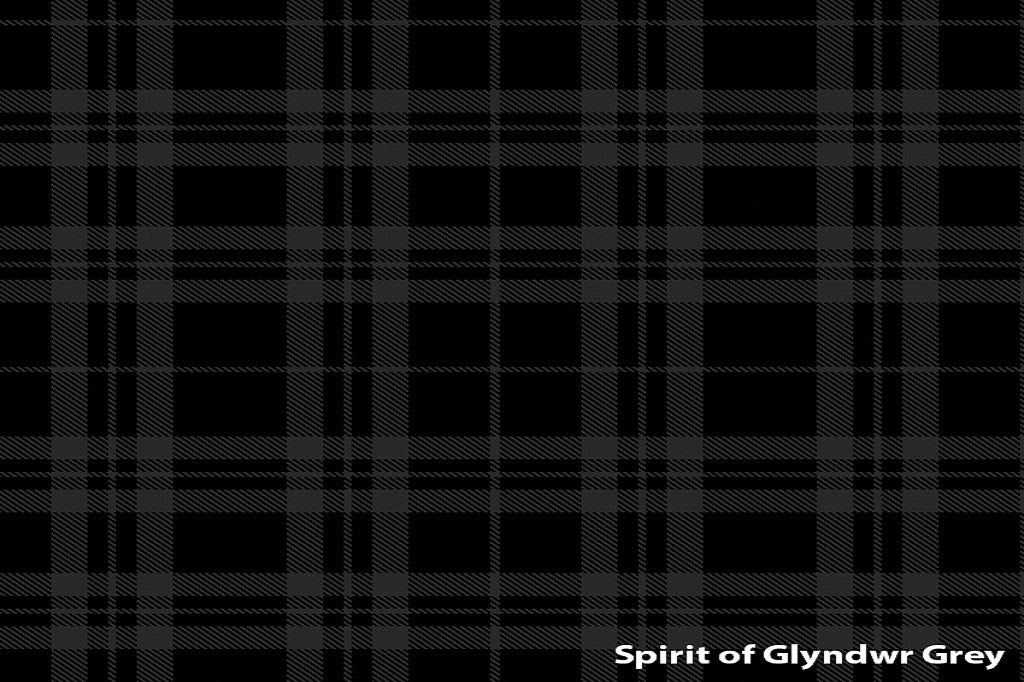 Image of Welsh Tartan Scarf - Owain Glyndwr (Grey)