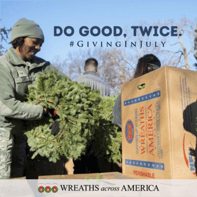 Giving In July - Wreaths Across America
