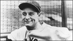The figure above is a photograph of the late Lou Gehrig.