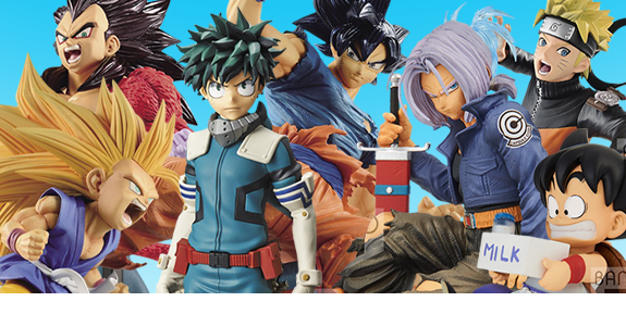 NEW BANPRESTO ANIME FIGURES