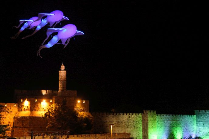 FLASH90 photographer Isaac Harari snapped this shot during the Jerusalem Light Festival in 2013.