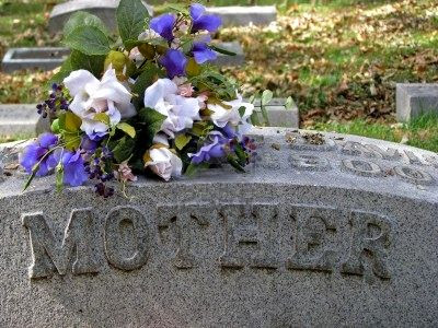3721598-silk-flowers-on-a-cemetery-grave-headstone-mother1