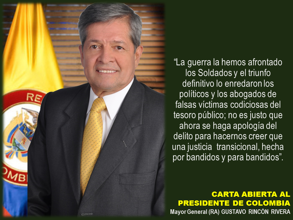 Carta abierta al Presidente MY Gustavo Rincon