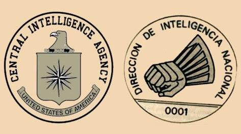 Logos CIA-DINA: Organizaciones terroristas hermanadas por el fascismo imperialista. (Archivo: Tribuna Popular)