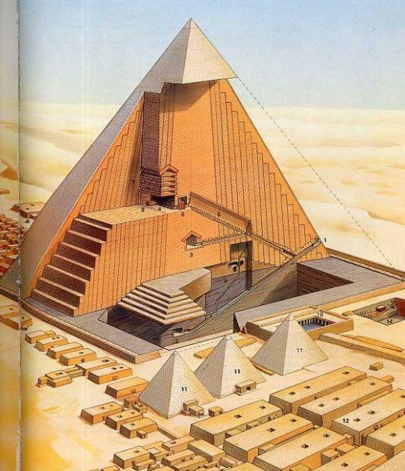 Cutaway Section of Pyramid