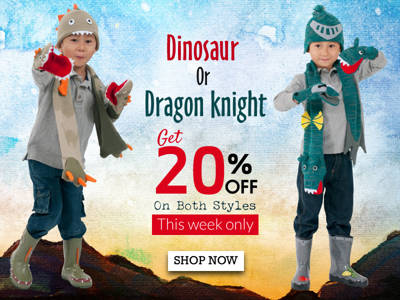 Kidorable: 20% off Dinosaur an...