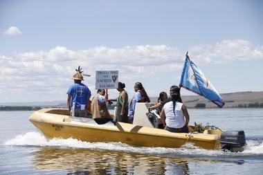 Tribal groups protest Oregon coal terminal