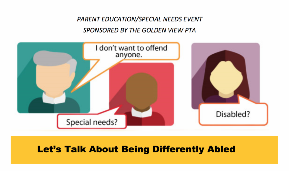 Special Needs Parent Ed event at Golden View February 2020
