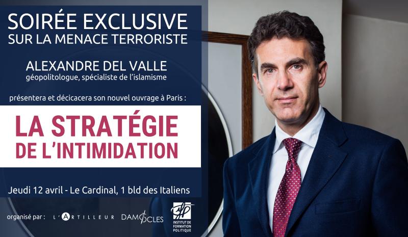 Alexandre Del Valle conférence stratégie de l'intimidation - 12 avril 2018