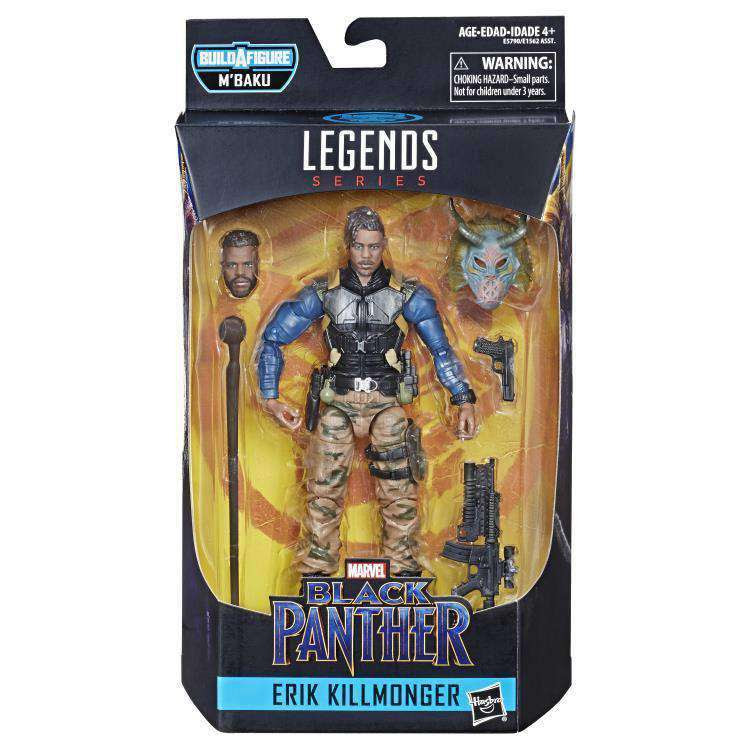 Image of Black Panther Marvel Legends Wave 2 (M'Baku BAF) - Erik Killmonger - FEBRUARY 2019