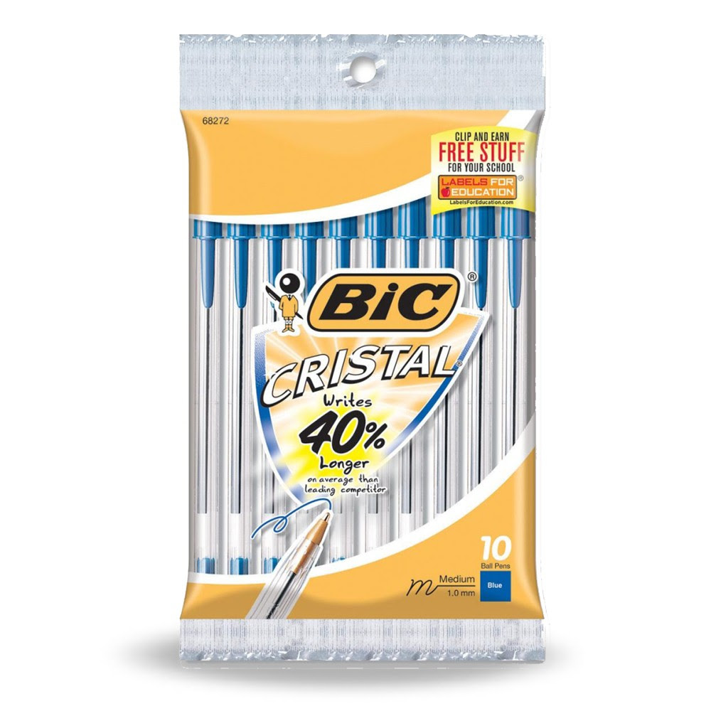 Bic Cristal Pens 10 pack Better Than FREE Bic Pens at Walmart!