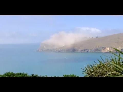 Christchurch, New Zealand M5.8 Earthquake causes Whitewash Head cliffs to crumble  Hqdefault