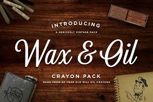 Wax & Oil Crayon Vector Brushes