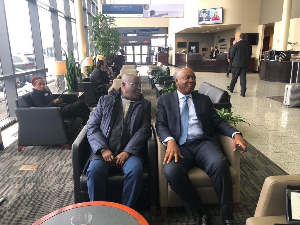 Atiku Abubakar (left) and Senate President, Bukola Saraki (right) travelled together to the United States on Thursday, January 17