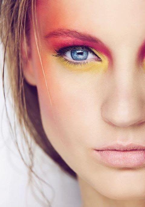 color blocking spring makeup trend