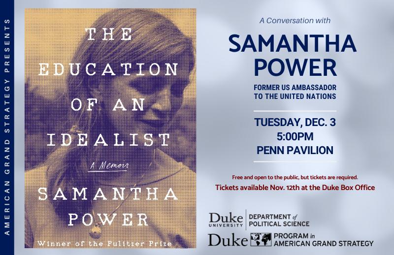 The Education of an Idealist - Samantha Power @ Penn Pavilion