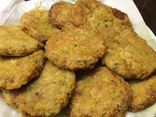 Cutlets on paper