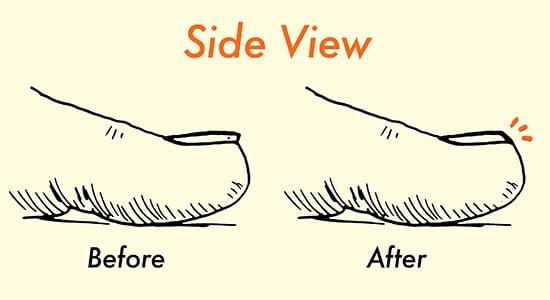 how to properly cut toenails illustration diagram
