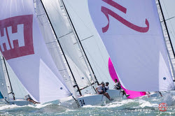 J/70s sailing fast under spinnaker