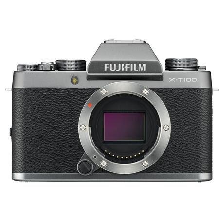 X-T100 Mirrorless Digital Camera Body, Dark Silver