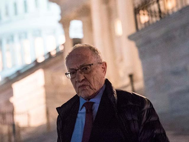 WASHINGTON, DC - JANUARY 29: Attorney Alan Dershowitz, a member of President Donald Trump's legal team, leaves the U.S. Capitol following continuation of the impeachment trial in the Senate January 29, 2020 in Washington, DC. (Photo by Sarah Silbiger/Getty Images)