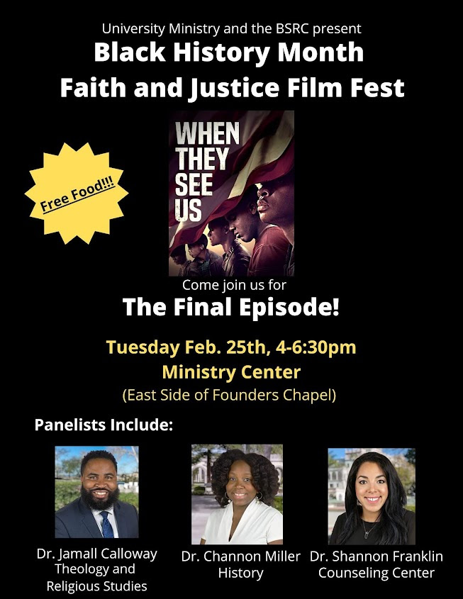 UM & BSRC Black History Month Faith & Justice Film Fest, Tuesday, February 25 at 4-6:30pm in the Ministry Center