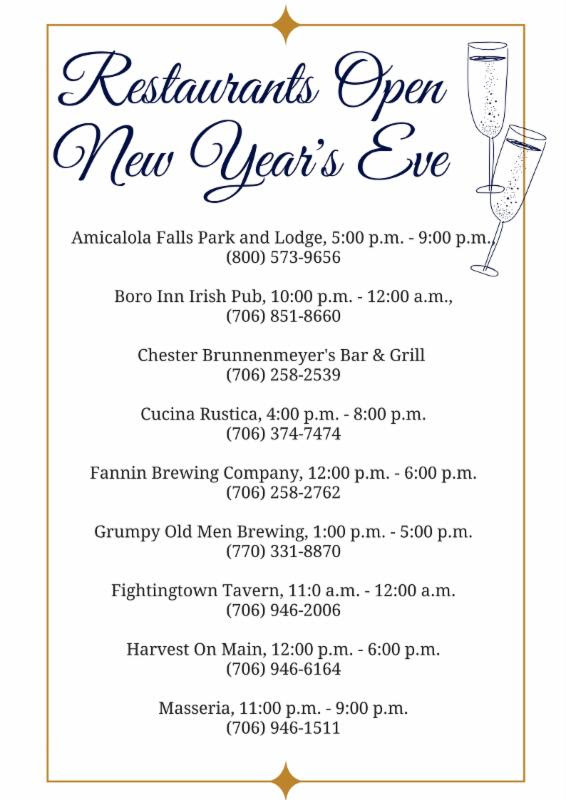 New Year_s Eve Restaurants Open