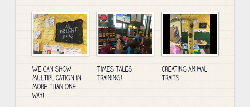 We can show multiplication in more than one way! Times Tales training! Creating Animal Traits