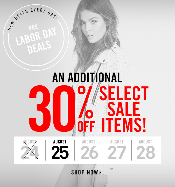 Extra 30% off select sale items