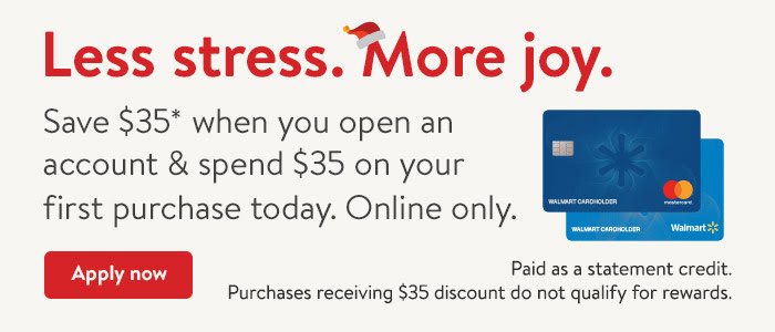 Walmart Credit Card special offer. Apply now.