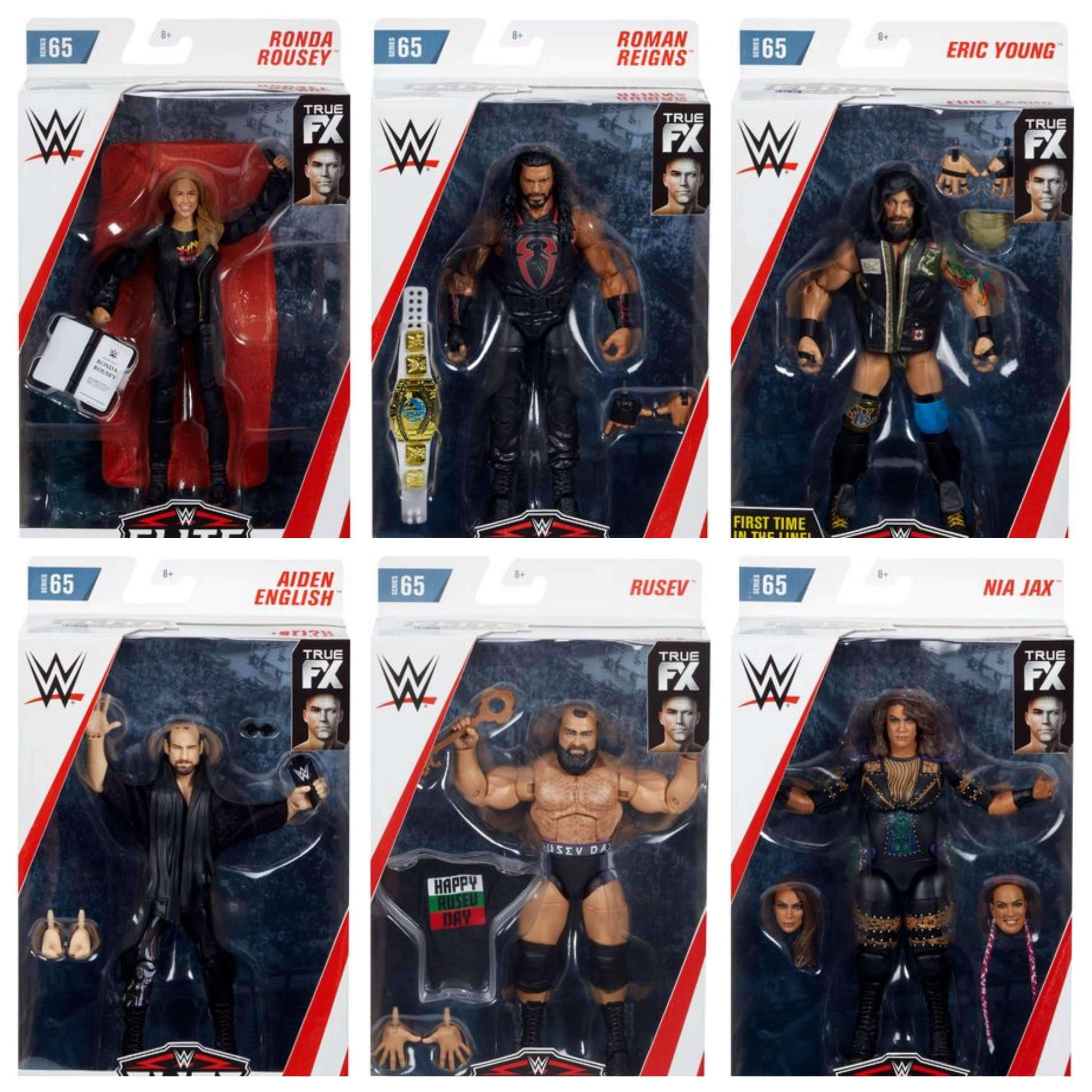 Image of WWE Wrestling Elite Series 65 - Set of 6 Action Figure - MAY 2019