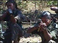 Female Maoist rebels