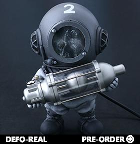 Godzilla Defo-Real Dr. Serizawa (Black and White Ver.)