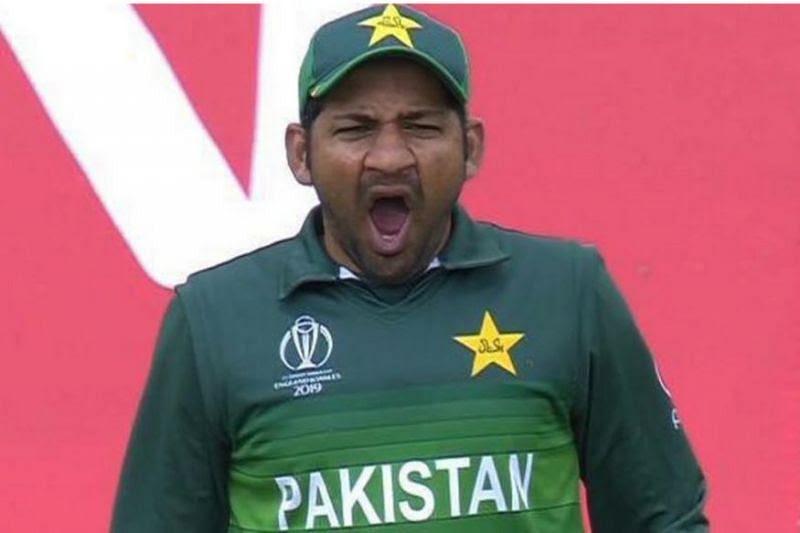 Sarfaraz Ahmed was caught yawning during the India-Pakistan encounter.