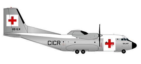 Transall C-160 Balair / International Red Cross (die-cast) | is due: January / February 2020