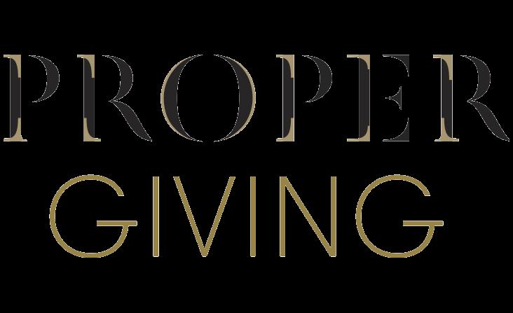 Proper Giving
