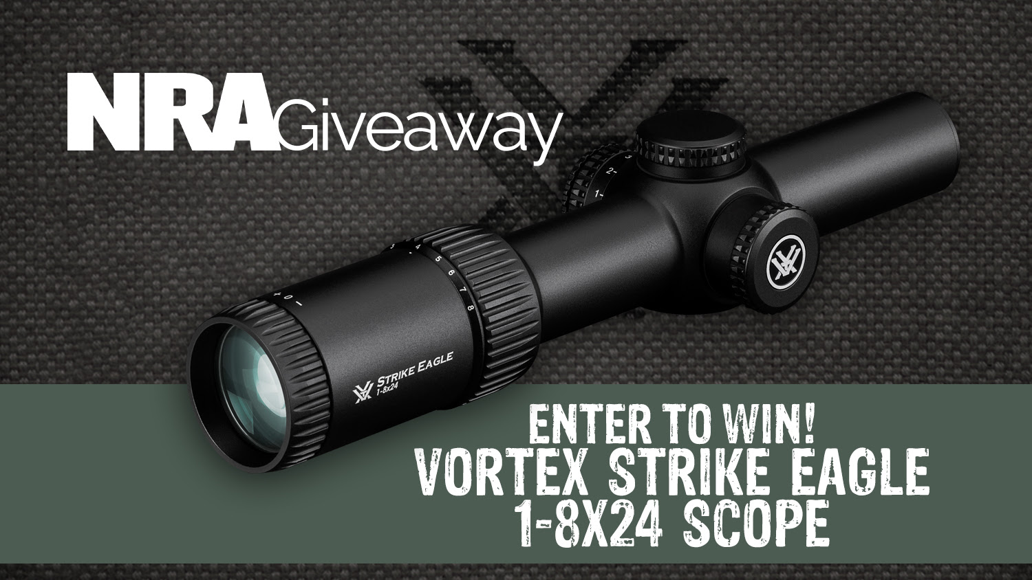 Don't miss this opportunity to take a Vortex 1-8x24 Strike Eagle scope home!