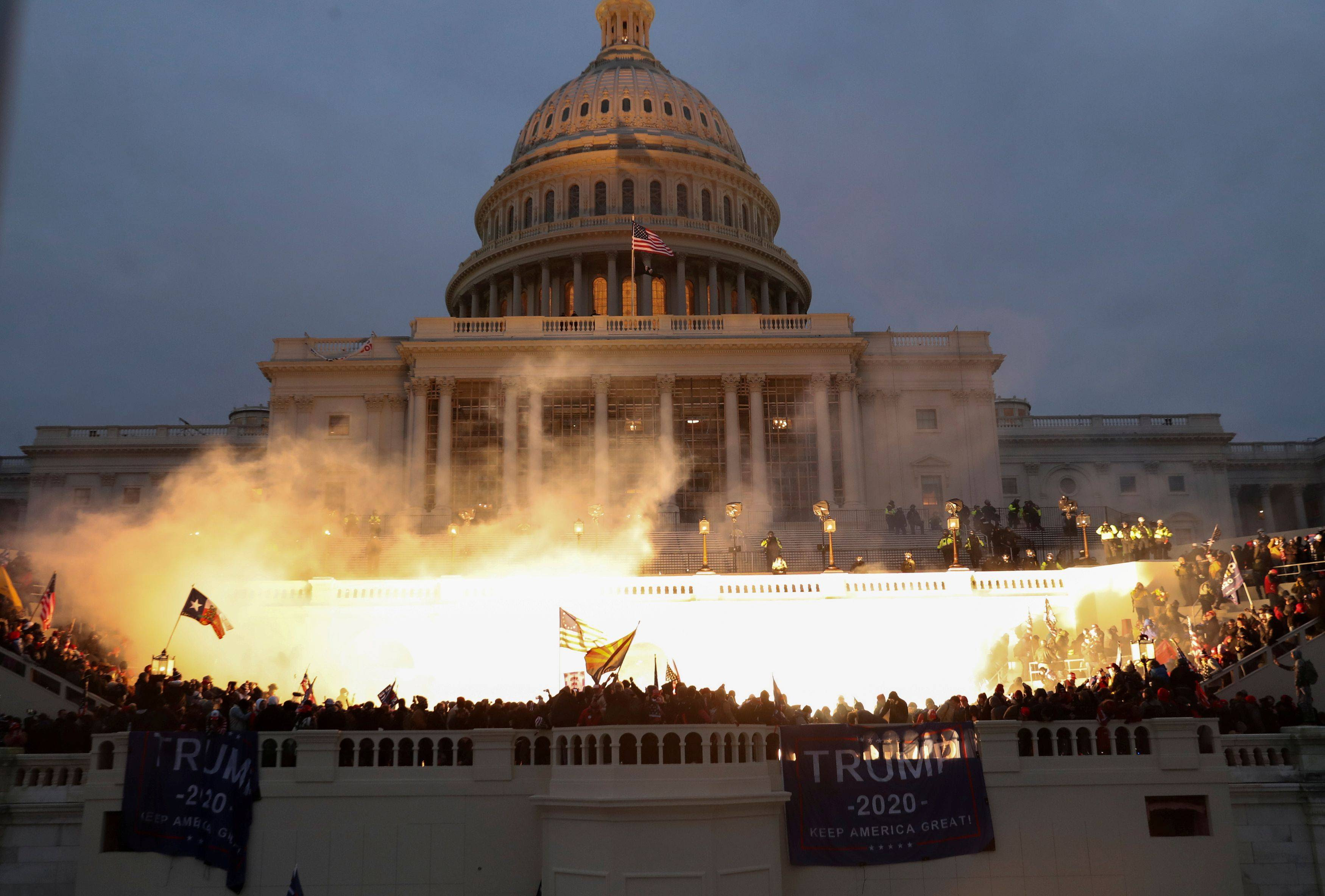 Pro-Trump rioters breached the U.S. Capitol on Wednesday. (Leah Millis/Reuters)