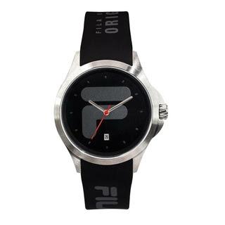 Fila 40mm Unisex Analogue Rubber Sports Watch (38181001) - Black