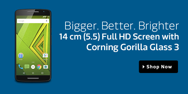 5.5 inch Full HD screen with corning Gorilla Glass 3