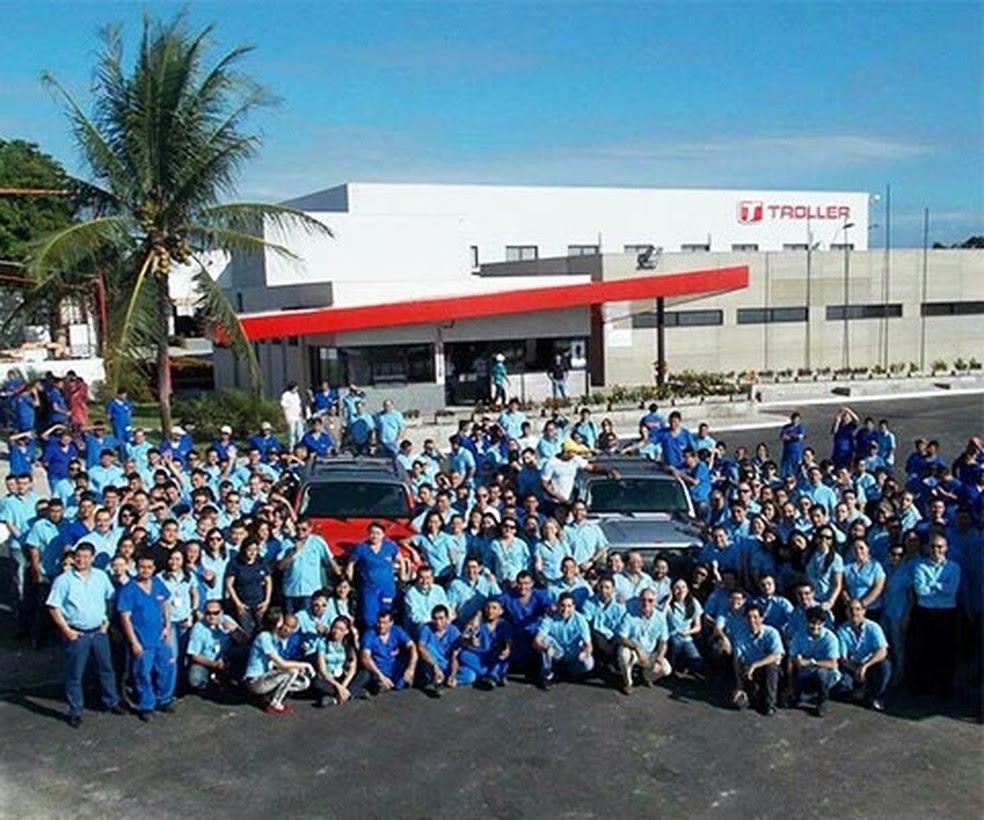 Fábrica da Troller/Ford em Horizonte mantém 470 empregados e colaboradores — Foto: Divulgação