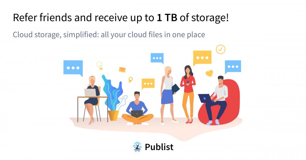 1TB Publist Storage Free for Black Friday