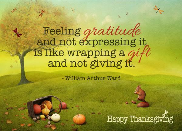 Thanksgiving Squirrel Gratitude