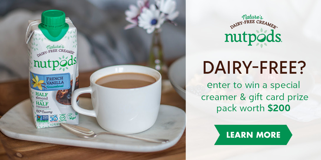 NUTPODS SWEEPSTAKES: learn more!