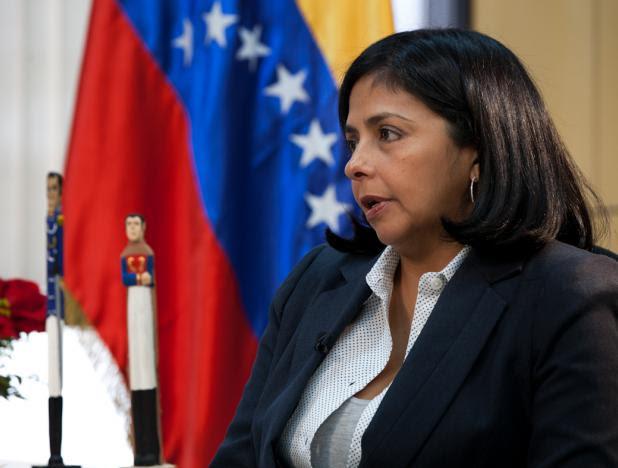 La ministra del Poder Popular para las Relacionas Exteriores, Delcy Rodíguez